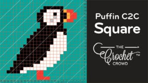 Crochet C2C Puffin Square