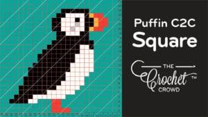 Crochet C2C Puffin Square