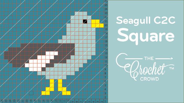 Crochet C2C Seagull Square