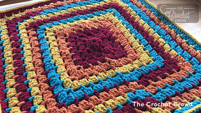 Crochet Toy Box Baby Blanket Pattern