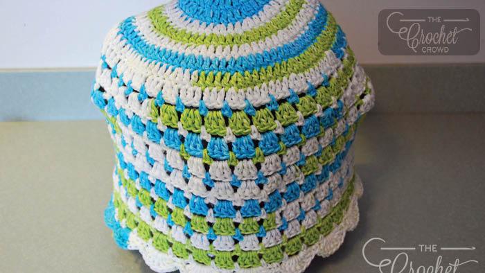 Crochet Modern Granny Kitchen Set