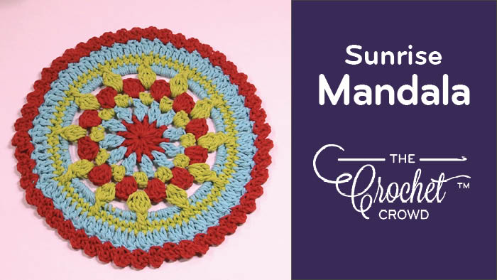 Crochet Sunrise Mandala