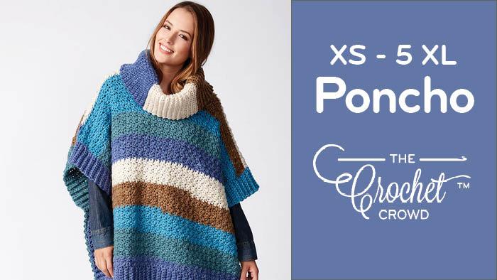 Crochet Adult Poncho Pattern + Tutorial