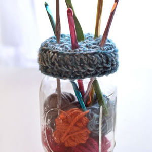 5 Mason Jar Hook Holder