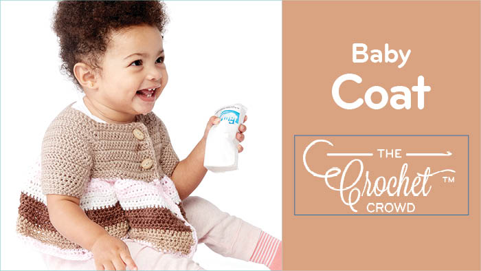 Crochet Striped Baby Coat Pattern + Tutorial