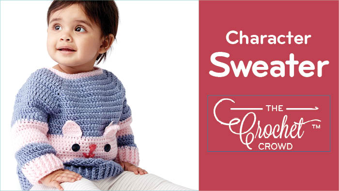 Crochet Baby Character Sweater