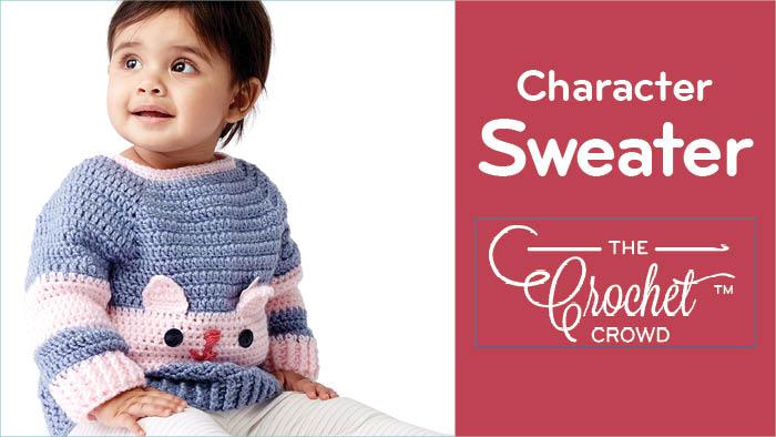 Crochet Kitty Character Sweater Pattern