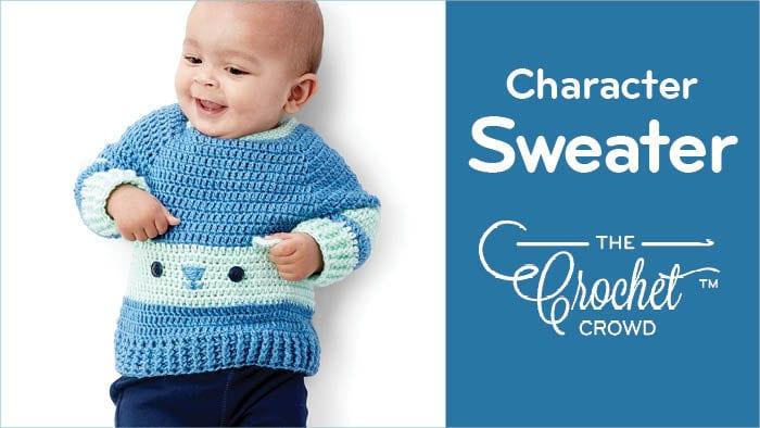 Crochet Baby Character Sweater