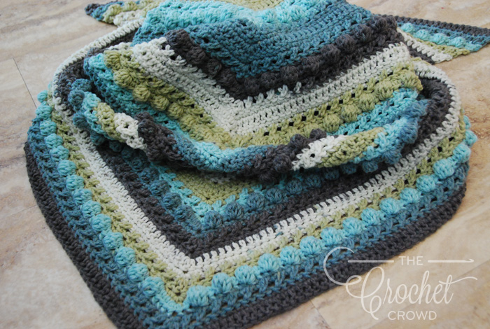 Crochet Hugs & Kisses Shawl by Jeanne Steinhilber