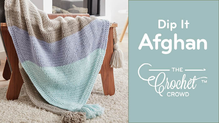 Crochet Corner Dipped Afghan Pattern