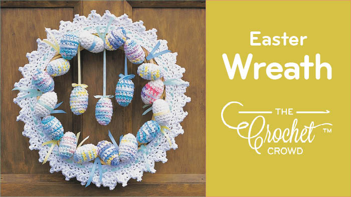Crochet Easter Egg Wreath Pattern