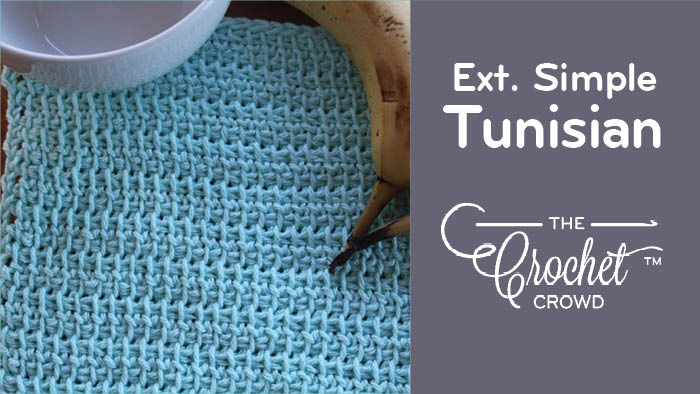 Tunisian Extended Simple Stitch tutorial