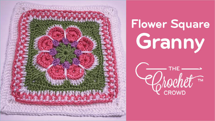 Crochet Flower in the Granny Square Pattern