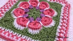 Crochet Flower in the Square Granny