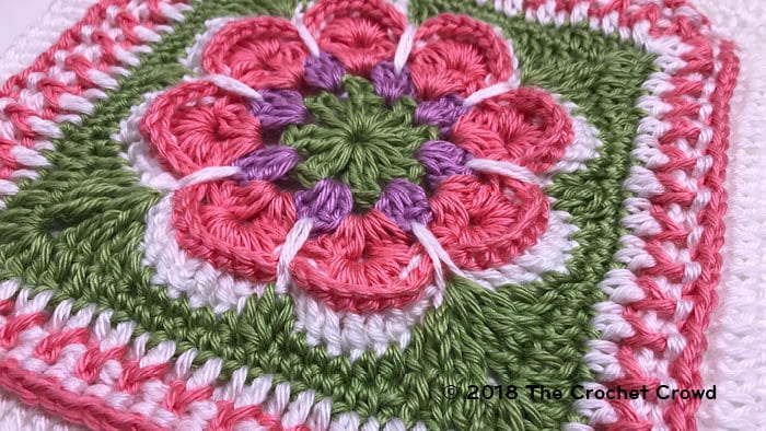 Crochet Flower In The Granny Square Tutorial The Crochet Crowd