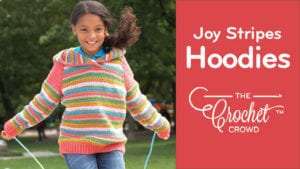 Crochet Joy Stripes Hoodies