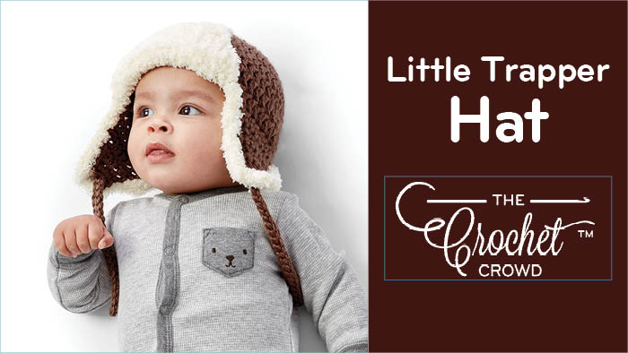 4d274870a8a77 Crochet Little Trapper Hat ·   5 Yarn Weight Bernat Pipsqueak Bernat Softee  Baby ...