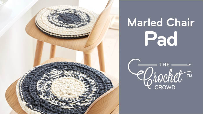 Crochet Marled Chair Pad