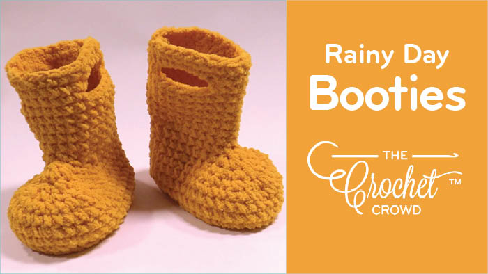 Crochet Rainy Day Booties Pattern