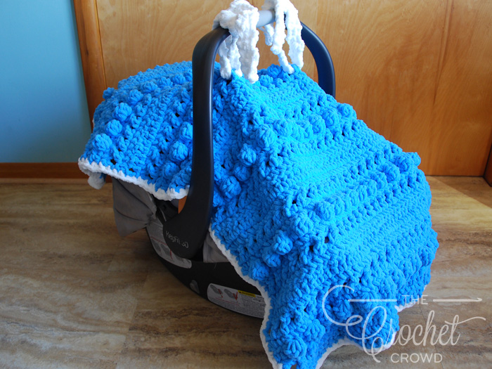 Crochet Hugs Kisses Car Seat Cover The Crochet Crowd