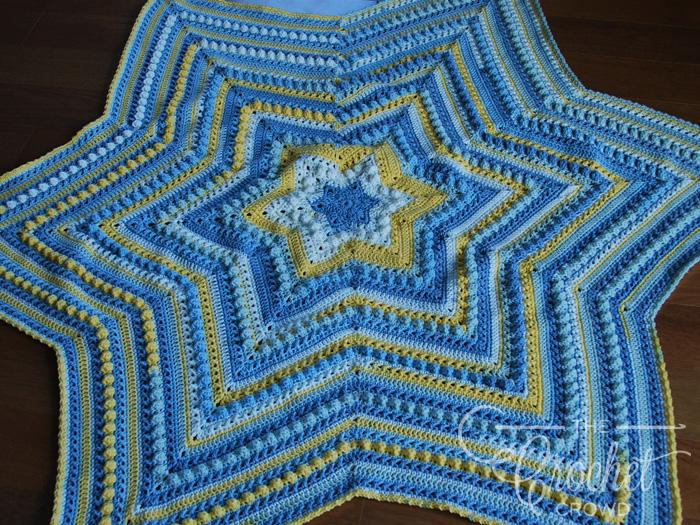 Crochet Hugs & Kisses Starshine Afghan by Jeanne Steinhilber