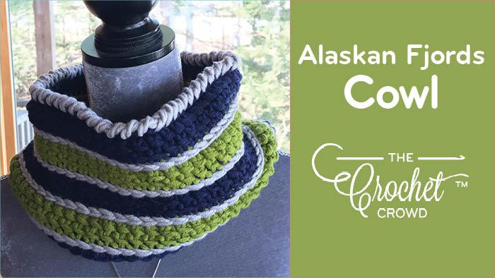 Crochet Alaskan Fjords Cowl by Diva Dan