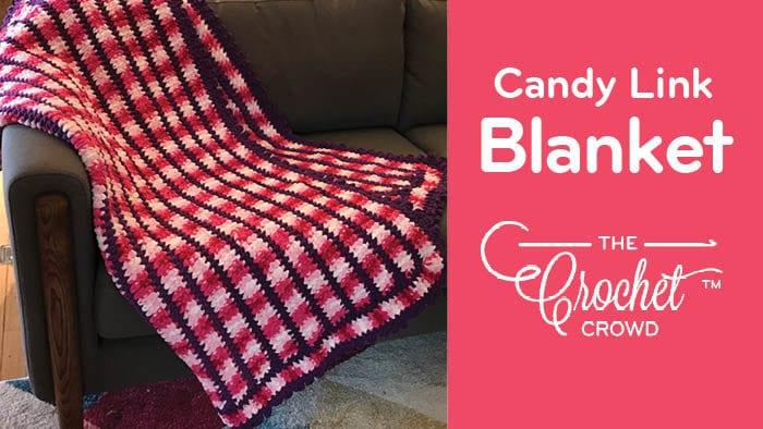 Crochet Candy Link Blanket
