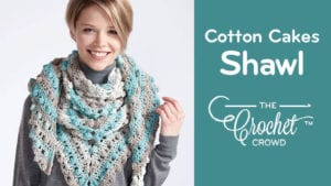 Crochet Caron Cotton Cakes Shawl: Make A Point Shawl