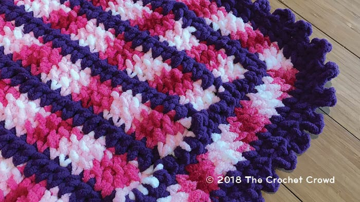 Crochet Candy Link Blanket Top View
