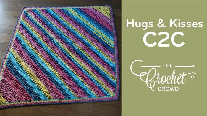 Crochet C2C Hugs & Kisses Blanket Pattern