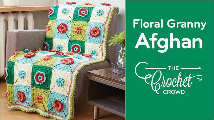 Crochet Floral Granny Afghan