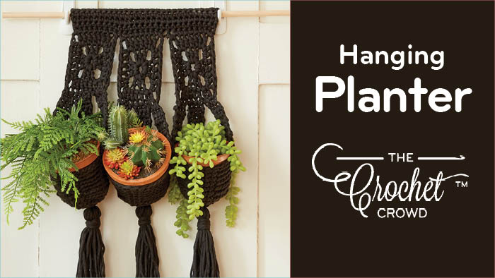 Crochet Hanging Planter