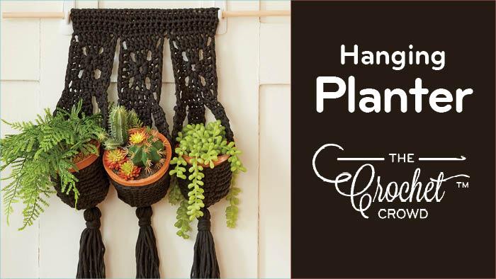Crochet Hanging Planter + Tutorial