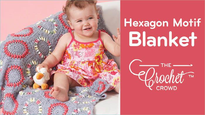 Crochet Hexagon Motifs Baby Blanket Pattern