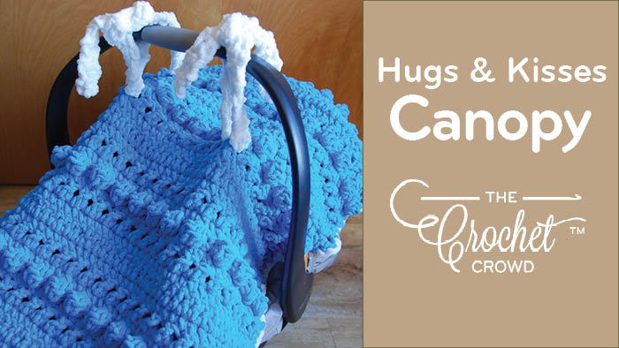 Crochet Hugs & Kisses Car Seat Cover Pattern