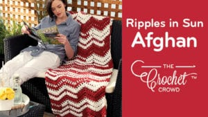 Crochet Ripples in the Sun Afghan