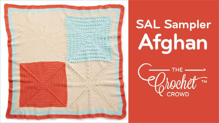 Crochet Sampler Square Blanket Pattern