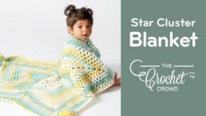 Crochet Star Cluster Baby Blanket