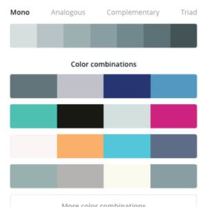 Canva Colour Options