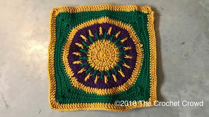 Crochet Celebration Square Close Up