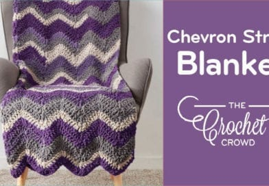 Crochet Chevron Stripe Blanket