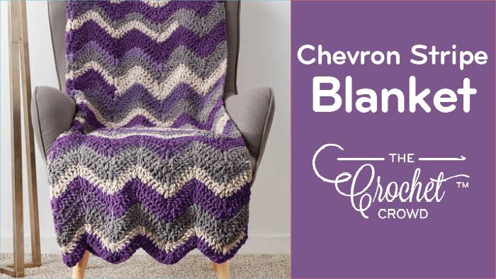 Crochet Chevron Self Striping Blanket Pattern