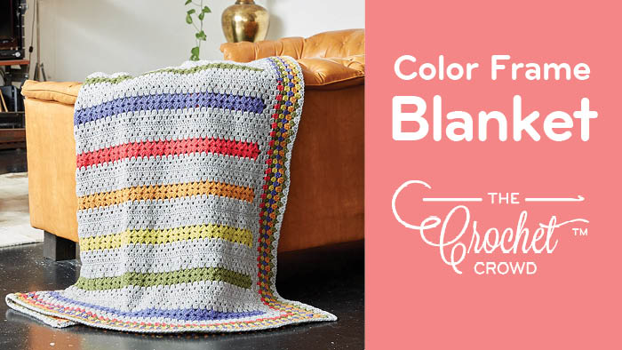 Crochet Color Frame Blanket