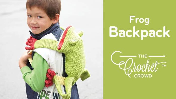 Crochet Frog Backpack