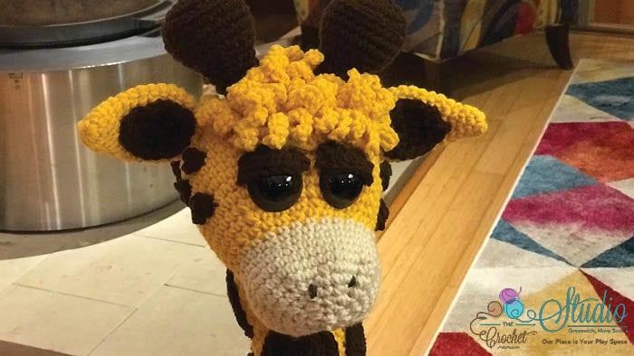 Crochet Giraffe Head