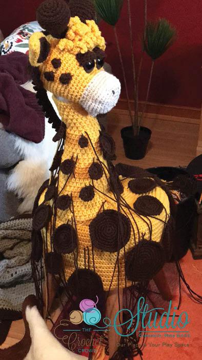 Giraffe Without Spots Sewn