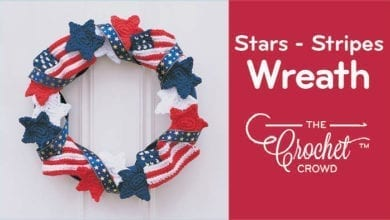 Crochet Stars & Stripes Wreath