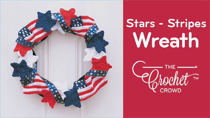 Crochet Stars & Stripes Wreath