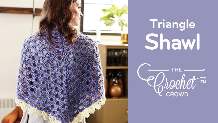Crochet Triangle Shawl