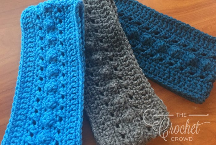 Crochet Hugs & Kisses Headband Earwarmer by Jeanne Steinhilber